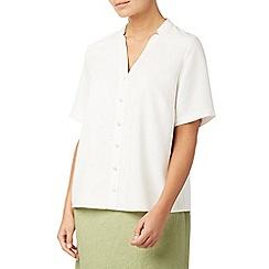 Eastex - Short sleeves notch neck blouse