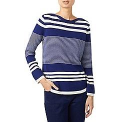 Dash - Navy boat neck stripe jumper