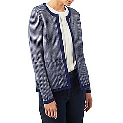Dash - Navy tack stitch cardigan