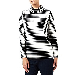 Dash - Stripe funnel neck top