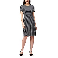 Precis - Petite stripe textured dress