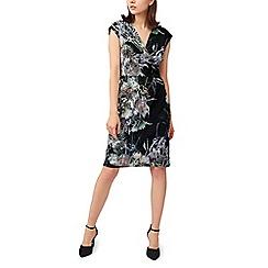 Precis - Petite dark dahlia wrap dress