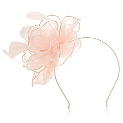 Precis - Flower and feather fascinator