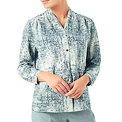 Eastex - Mineral texture print blouse