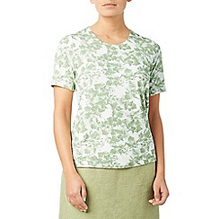 Eastex - Mono orchid print top