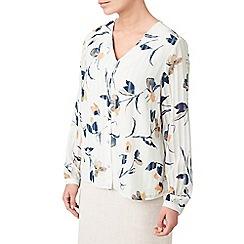 Eastex - Satin stripe printed blouse