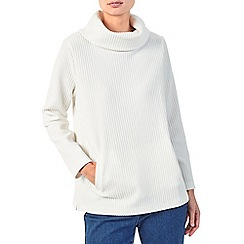 Dash - Textured cowl neck jumper