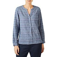 Dash - Variegated stripe linen shirt