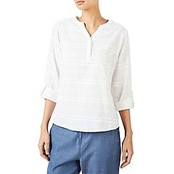 Dash - Embroidered linen white shirt