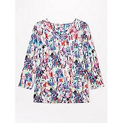 Dash - Multicoloured bloom v-neck top