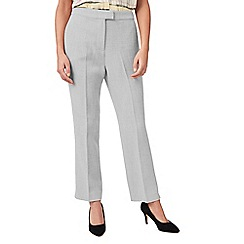 Eastex - Basket weave straight trousers