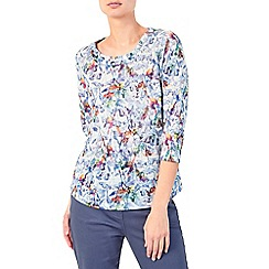 Dash - Botanical shadow jersey top