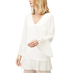 Jacques Vert - Pleated hem and cuff blouse