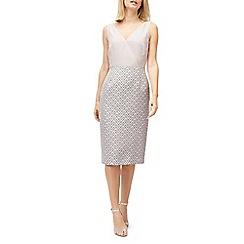 Jacques Vert - Wrap front jacquard dress
