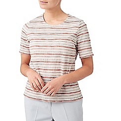 Eastex - Textured stripe jersey top