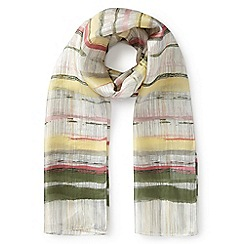Eastex - Brushed stripe silk scarf