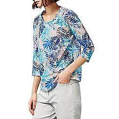 Dash - Tropical palm jersey top