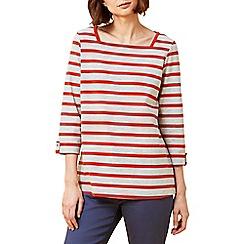 Dash - Stripe square neck top