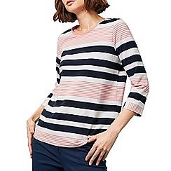 Dash - Graduated printed stripe top