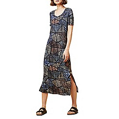 Dash - Geo palm jersey midi dress