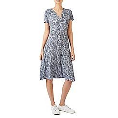 Dash - Geo palm jersey wrap dress