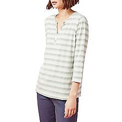 Dash - Mandarin stripe top