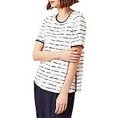Dash - Palm print stripe top