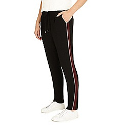 Phase Eight - Black and brick Jayne satin stripe trousers