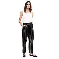 Phase Eight - Black and Ivory helen stripe trousers