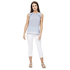 Phase Eight - White isla crop trousers