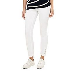 Phase Eight - White billie button hem jeans