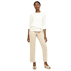 Phase Eight - Natural madi button soft trousers