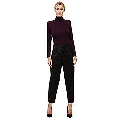 Phase Eight - Black zelda jacquard trousers