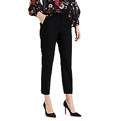 Phase Eight - Black Maxime Button Hem Trousers