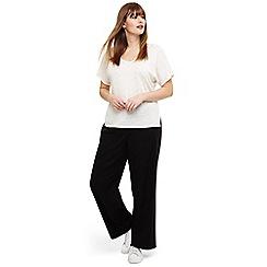 Studio 8 - Sizes 12-26 Black alina linen trousers