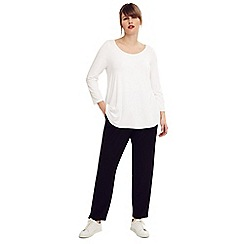 Studio 8 - Size 14-26 Black jane tapered leg trousers