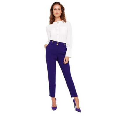 Damsel In A Dress   Purple Eryn Capri Trousers by Damsel In A Dress