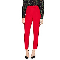 Damsel in a dress - Red Isabella Tapered City Suit Trousers