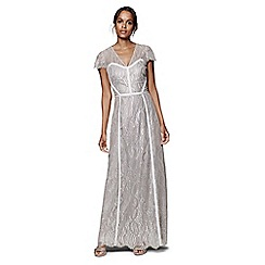 Phase Eight - Silver hali lace full length dress