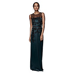Phase Eight - Pine and Black gallia embellished full length dress