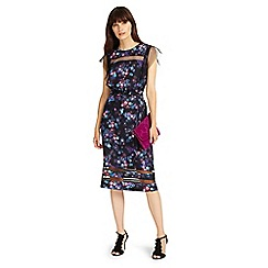 Phase Eight - Black and Multi kacy floral print dress