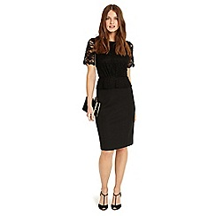 Phase Eight - Black Halsry lace dress