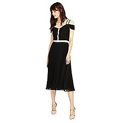 Phase Eight - Black and Tearose alania pleat dress