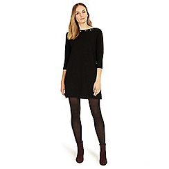 Phase Eight - Black Esmerelda eyelet tunic dress