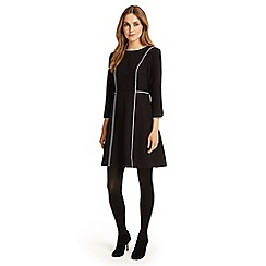 Phase Eight - Black and Ivory piper piped dress