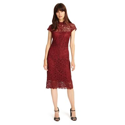 Phase Eight   Dark Red Becky Lace Dress by Phase Eight