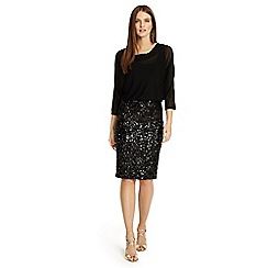 Phase Eight - Black adele sequin dress
