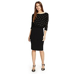 Phase Eight - Black 'Adele' star embroidered dress
