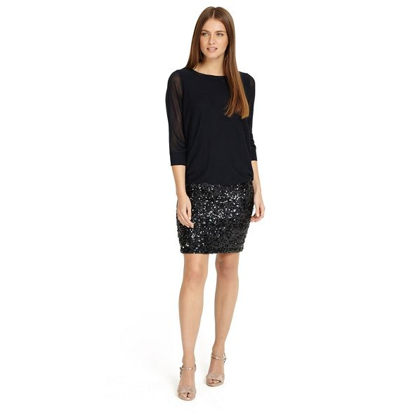 Blue dress Eight 'Geonna' Phase sequin knit qYFn5T