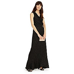 Phase Eight - Black 'Neona' lurex full length dress